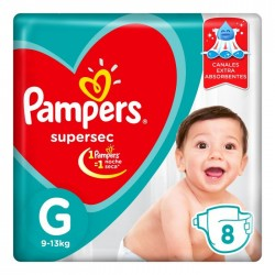 PAMPERS SUPER SEC G 9 UNIDADES