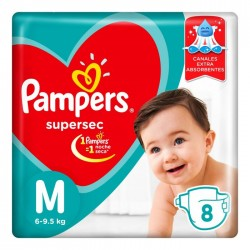 "PANALES PAMPERS SUPERSEC ""M"" X 10U."