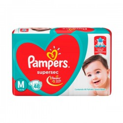 PAMPERS  SUPER SEC. M 52 UNIDADES
