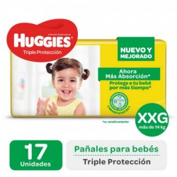 HUGGIES TRIPLE ACCION XXG X17PAÑALES